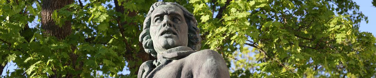 Staty av frihetshjälten Engelbrekt Engelbrektsson i Arboga.