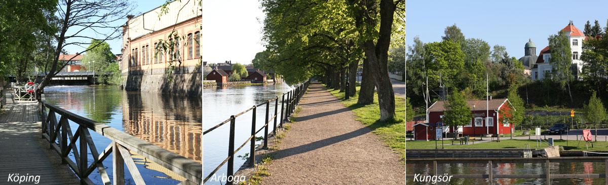 Stadsbilder från Köping, Arboga och Kungsör