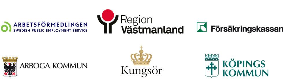 Samordningsförbundet Västra Mälardalens förbundsmedlemmars loggor.